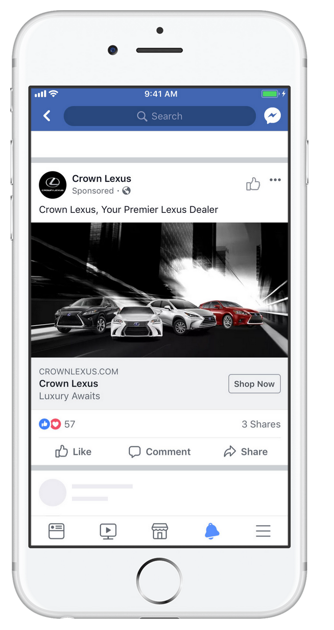 Facebook Image Ad Preview