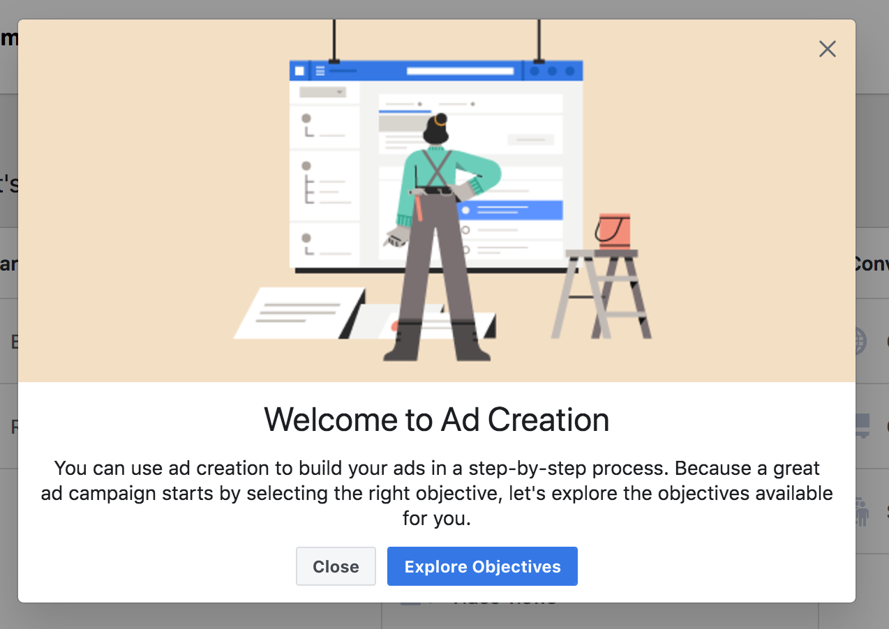 Facebook Ad Creation Welcome