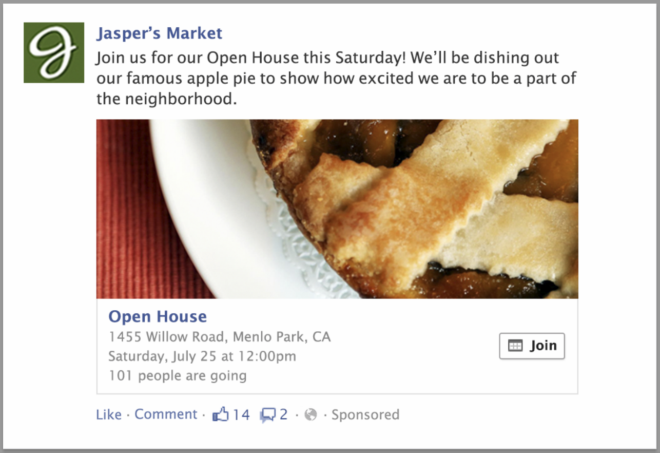 Facebook Event Response Ad Preview