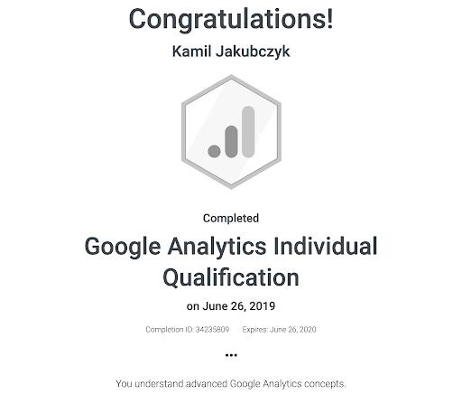Professional Marketing Certification - Google Analytics