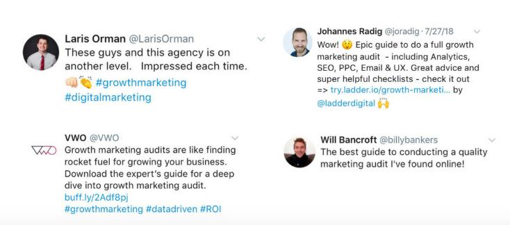 marketing audit twitter response