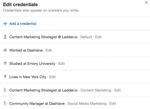 How to Add a Credential On Quora