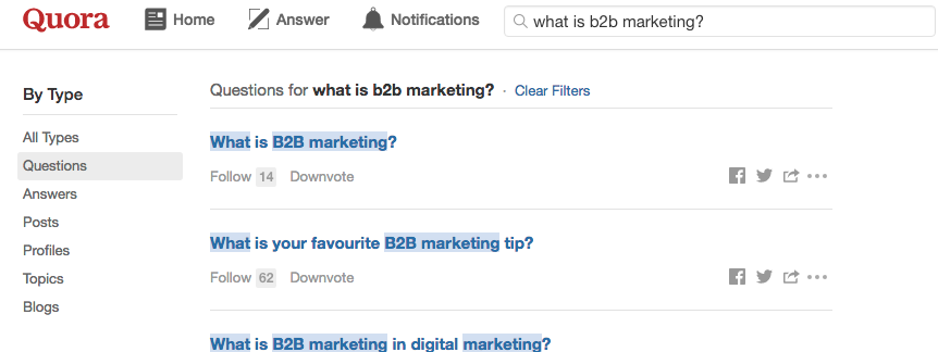 New Way to Find Quora Questions