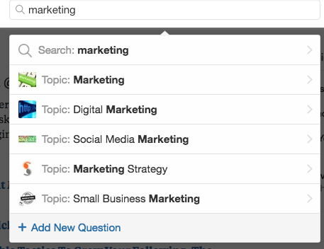 Searching for Quora Topics