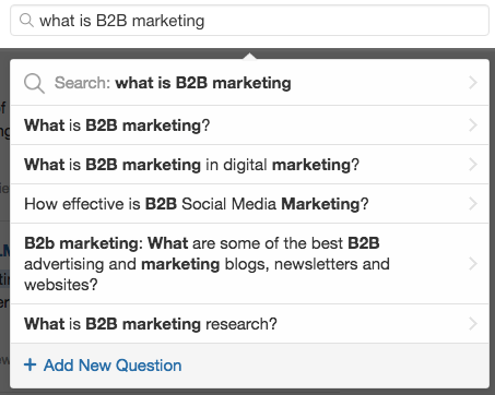 Search Questions in Quora