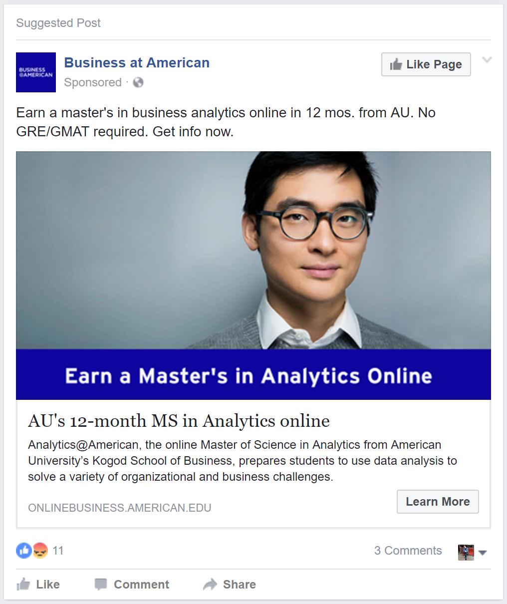 american university ad