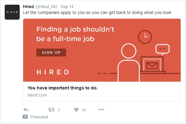 hired ad