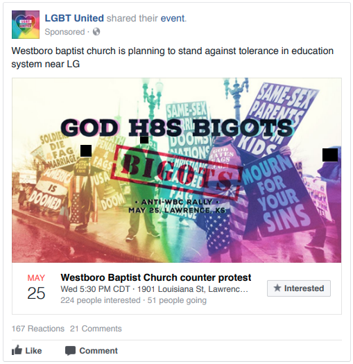 Russian Facebook Ad from LGBT United