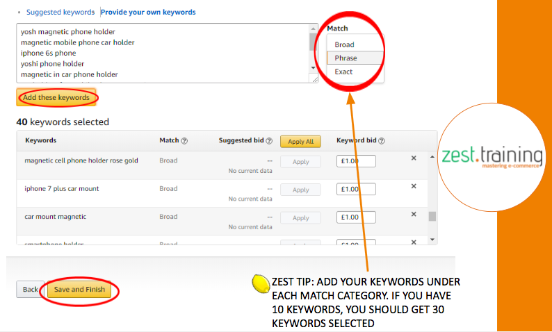 Select a Keyword Match Type - Amazon Ads