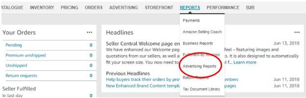 Amazon Advertising Reports