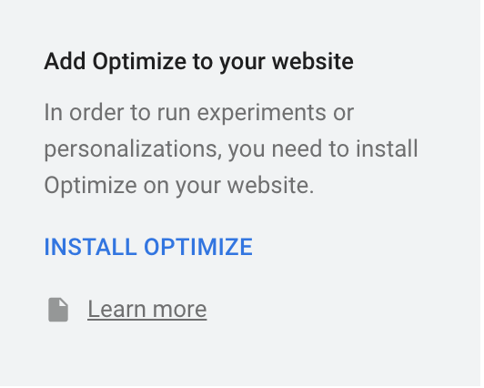 Add Google Optimize snippet to your website
