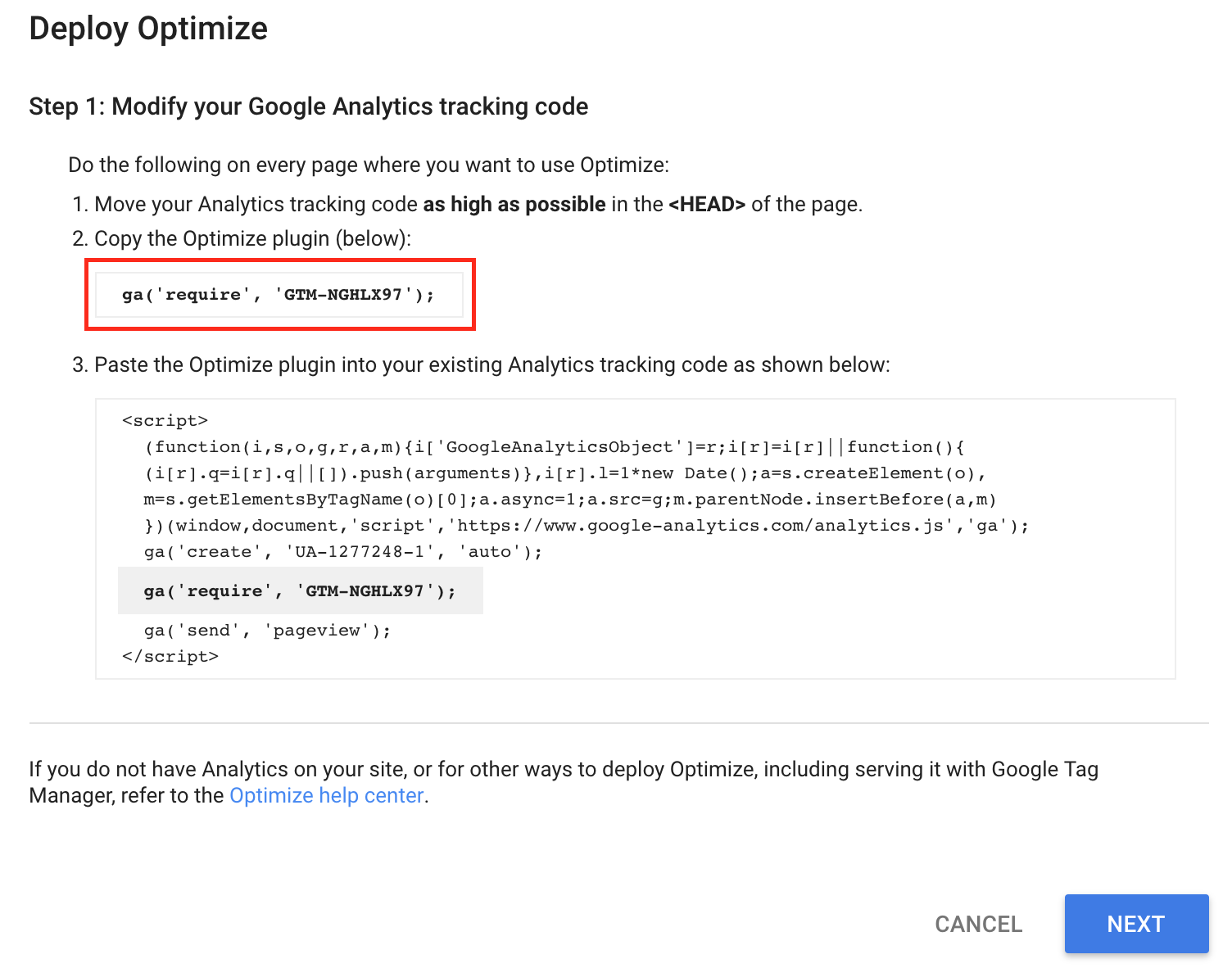 How To Deploy Google Optimize