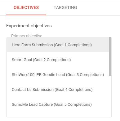 conversion goals