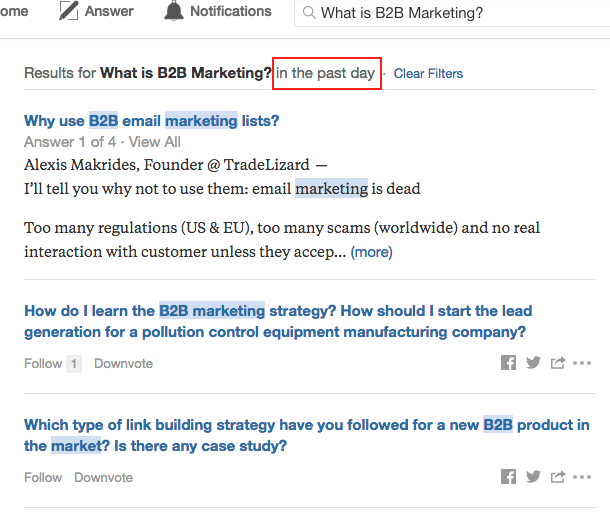 How to Find Recently Asked Quora questions