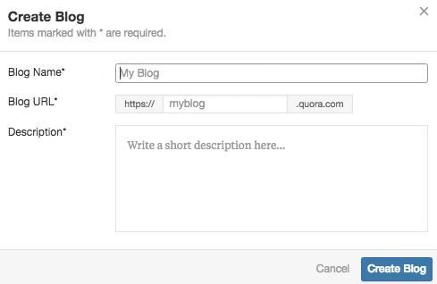 New Blog Setup on Quora