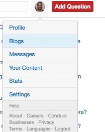 Adding a Quora Blog
