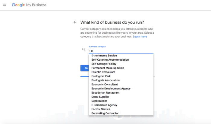 There are over 2,300 business categories in Google My Business, so choose the exact one that fits your business to increase your search visibility.