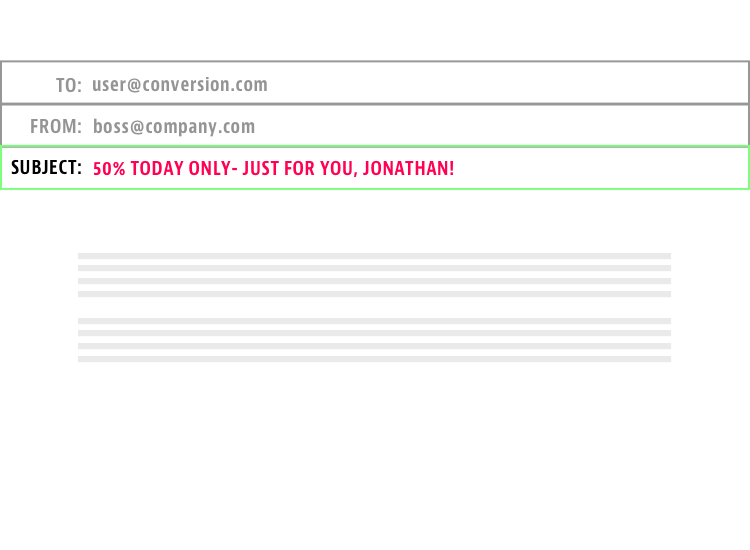 Personalize Subject Line