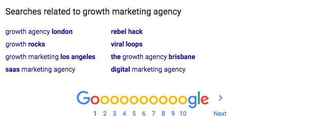 growth marketing search