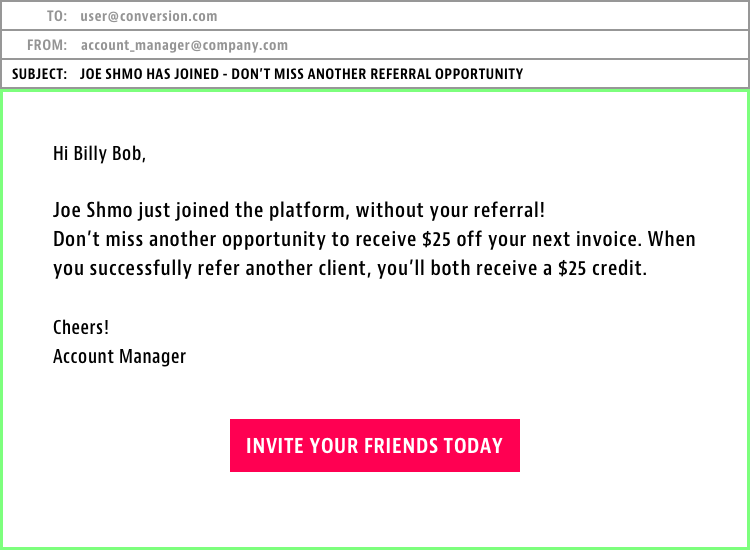 missed referral email