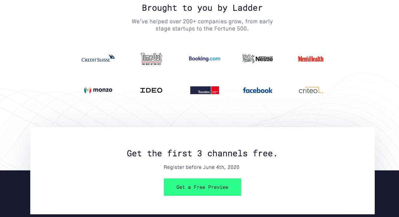 emerging channels report landing page