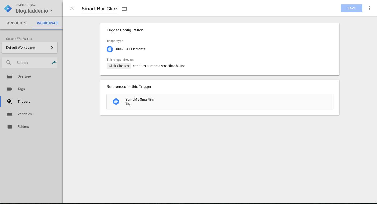 smart bar click
