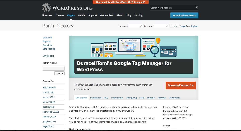 wordpress tag manager