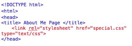 Internal CSS Style Sheet