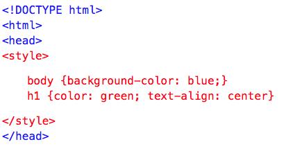 Internal/Embedded CSS Styles
