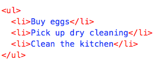 Unordered List in HTML