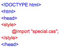 Import Style - CSS