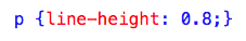 Line-height CSS property