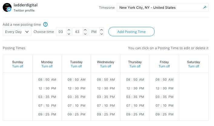 Scheduling Tweets using Buffer