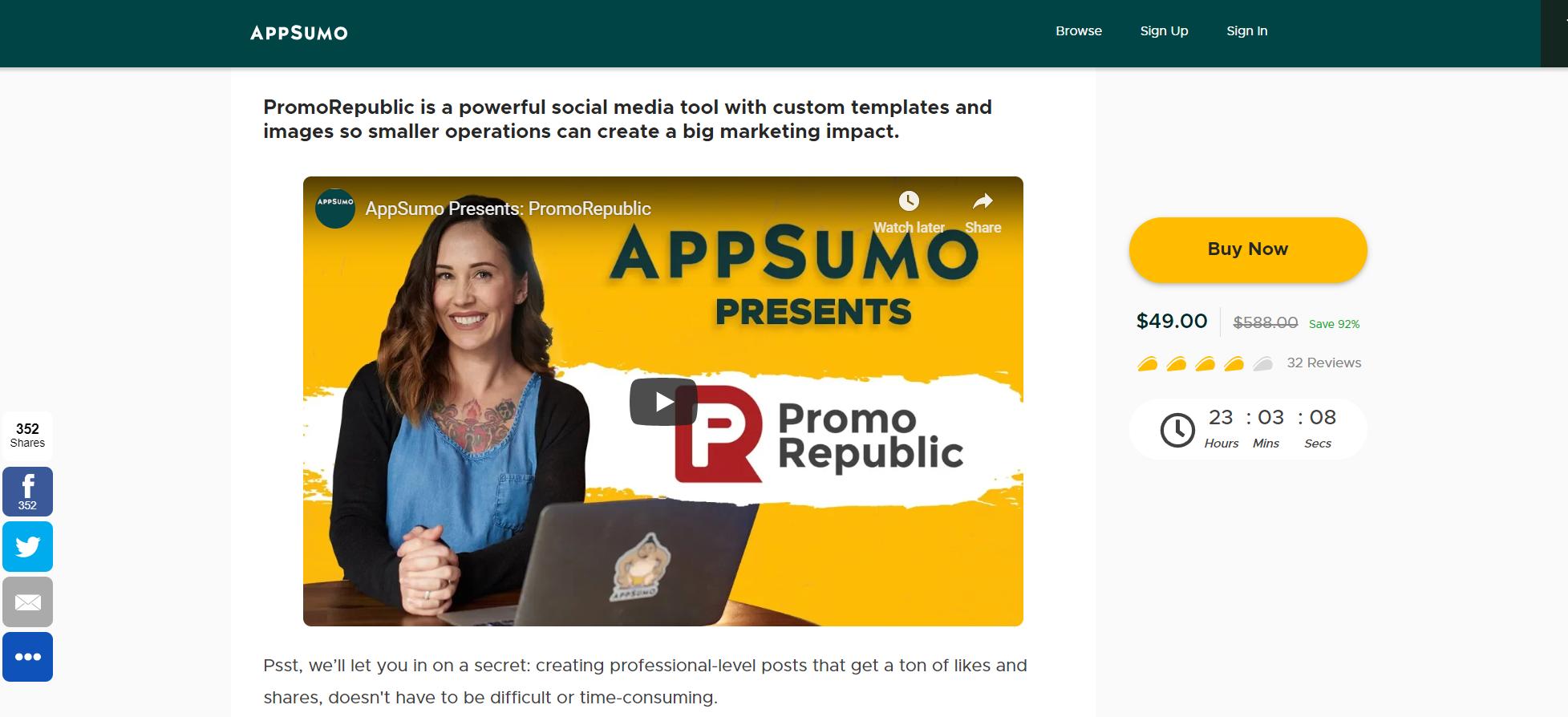 AppSumo presents PromoRepublic