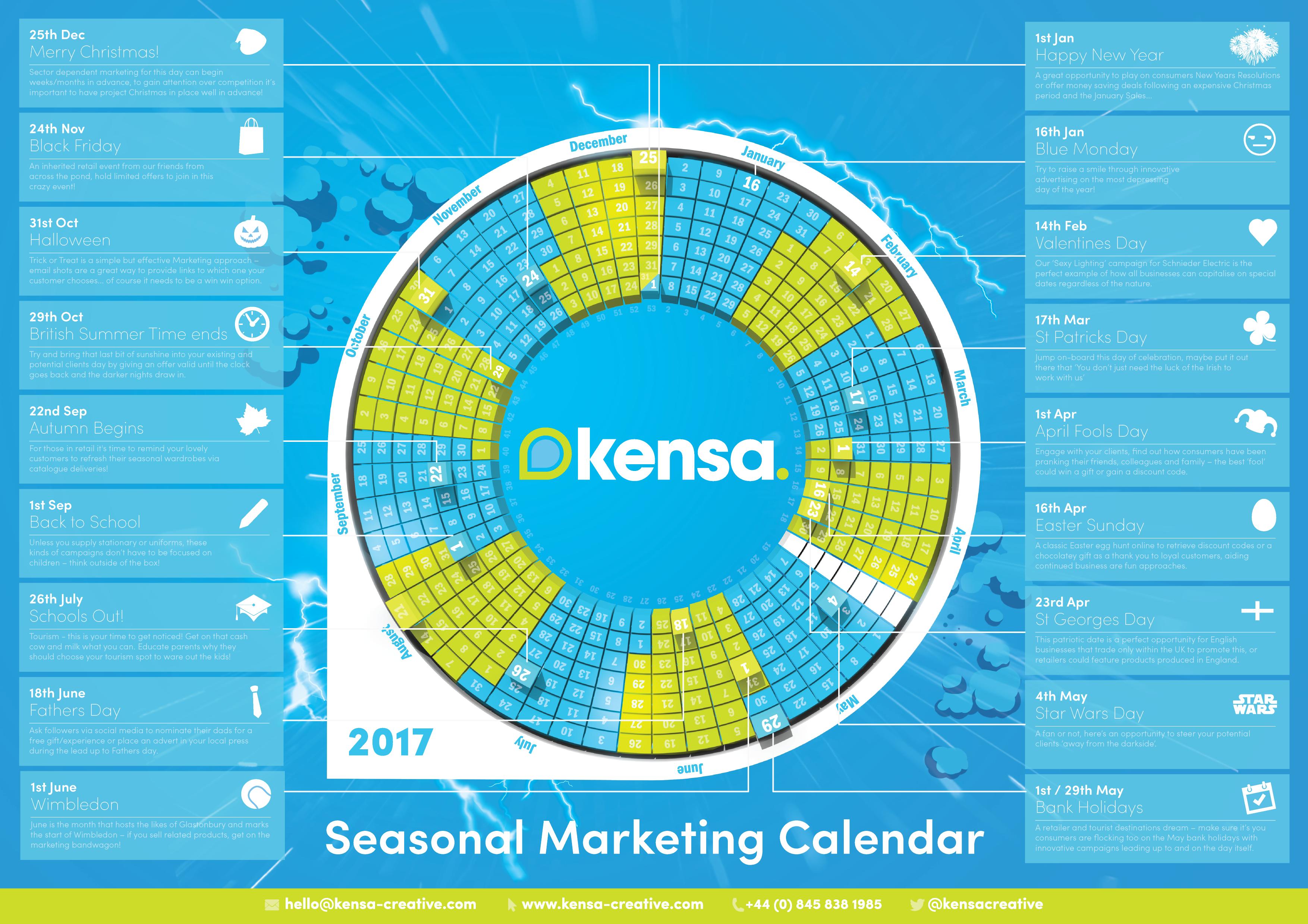 Seasonal Marketing Calendar 2017