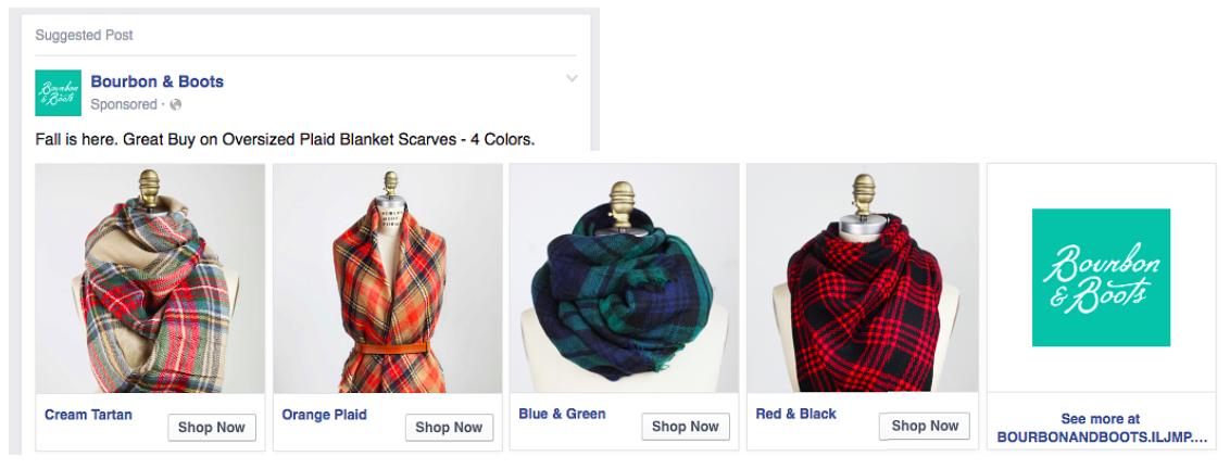 Seasonal Ads-Facebook Carousel Ads