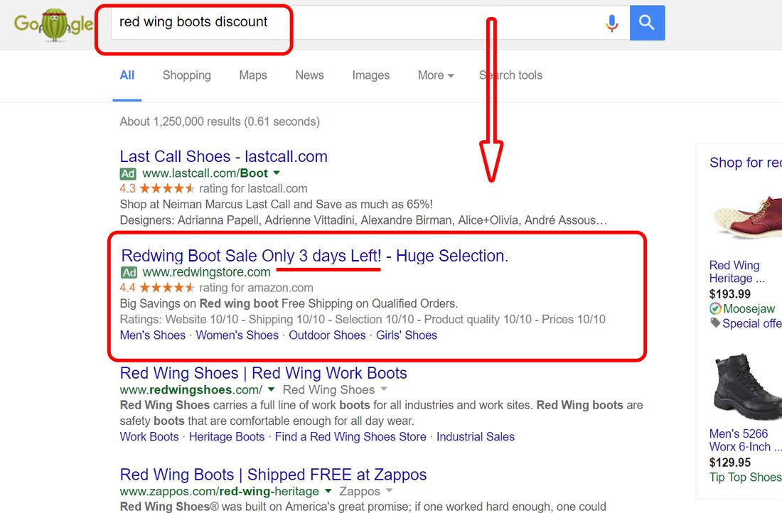 Seasonal Ads auotmated countdown google ads