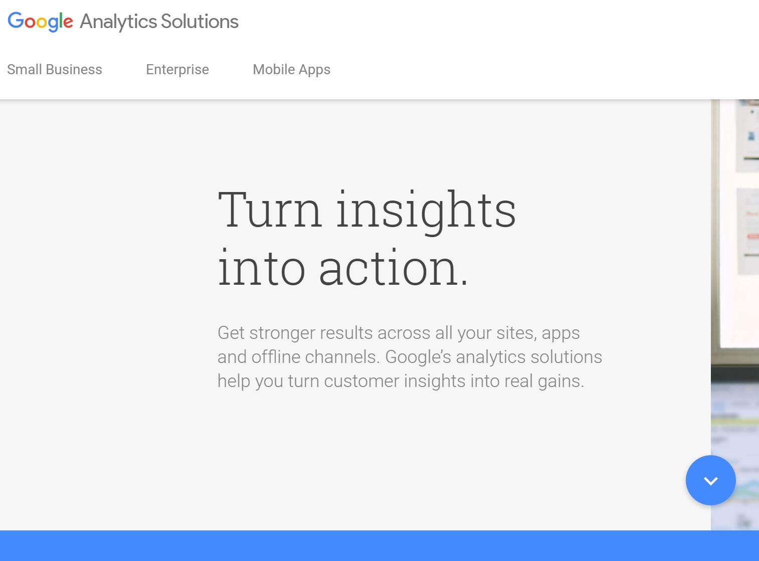 marketing tool: google analytics
