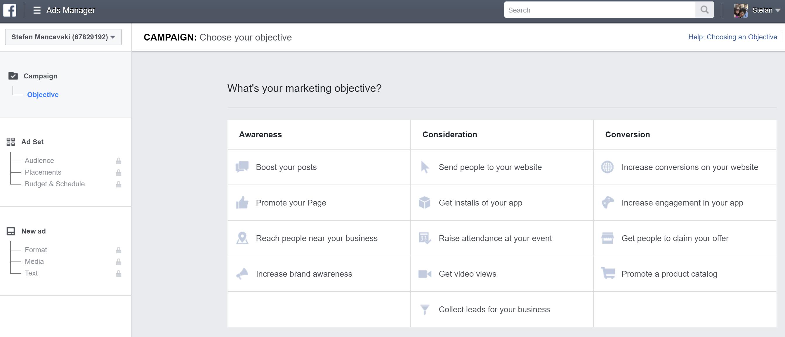 marketing tool: facebook ads