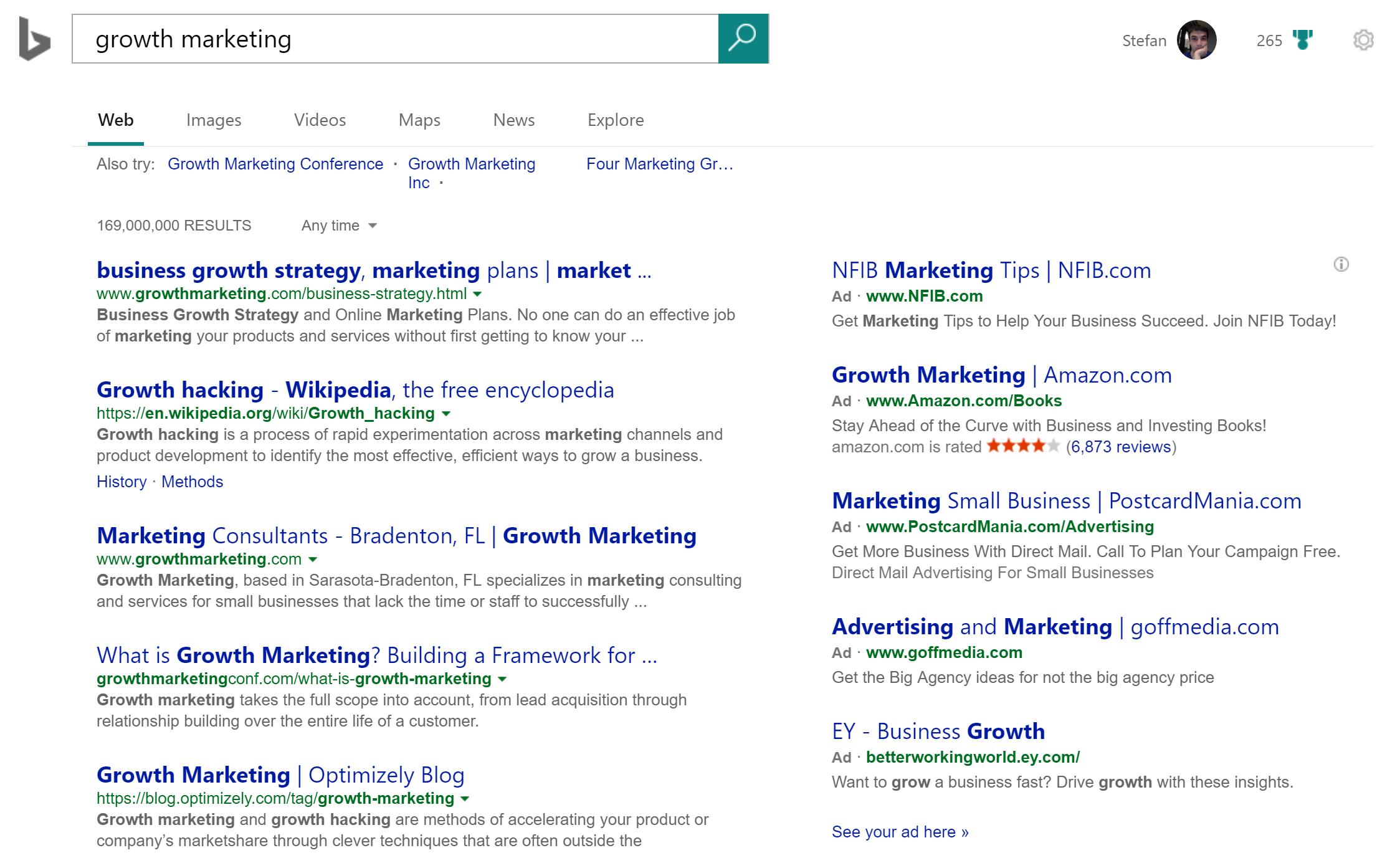 marketing tool: bing ads