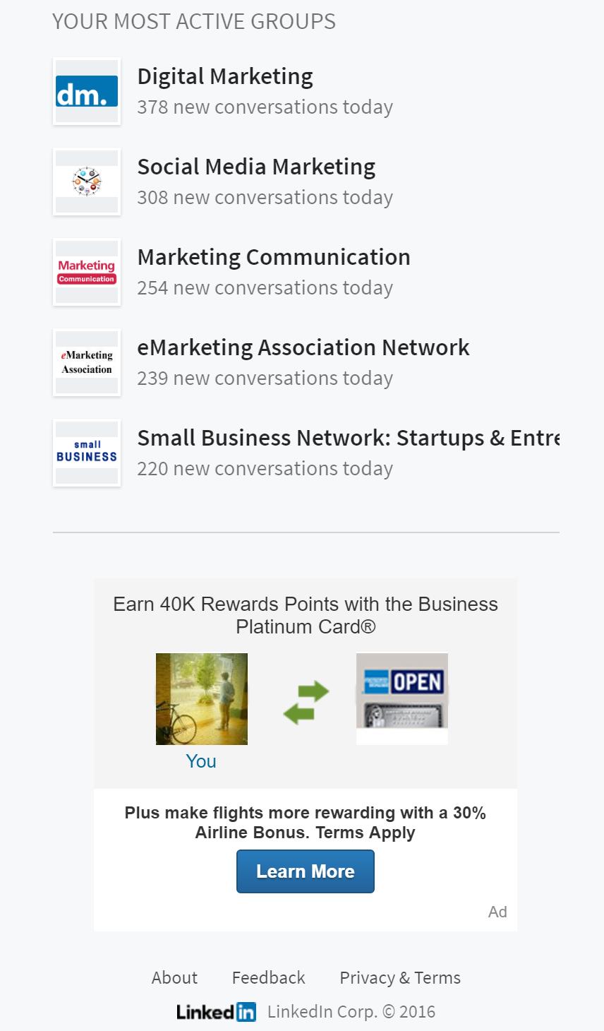 marketing tool: linkedin ads