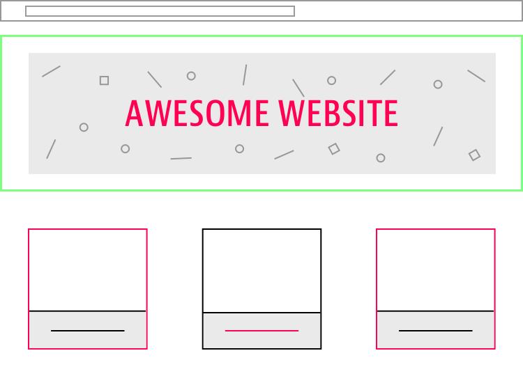 website minimalist example
