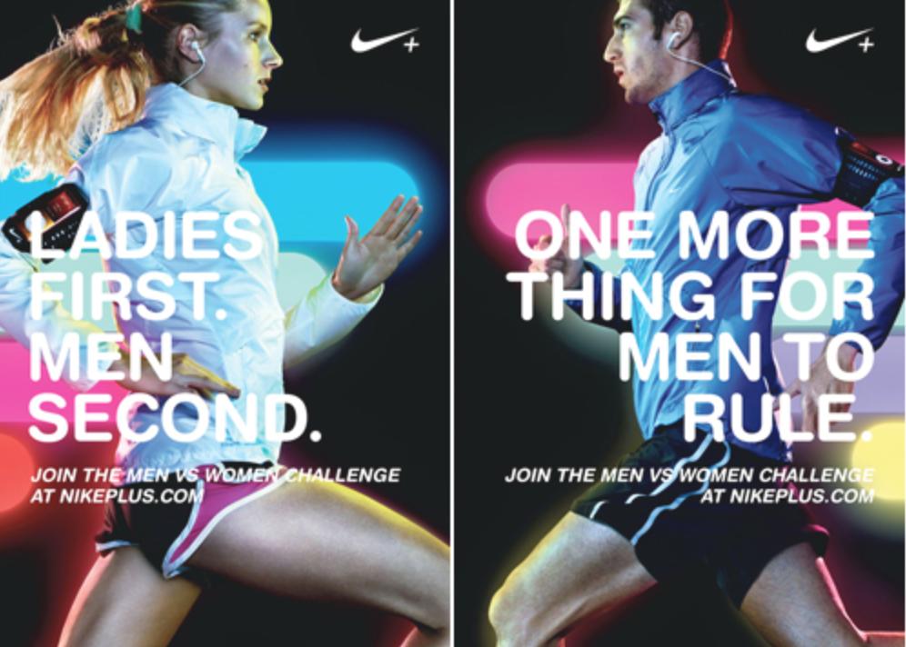 Male Vs. Female ad example