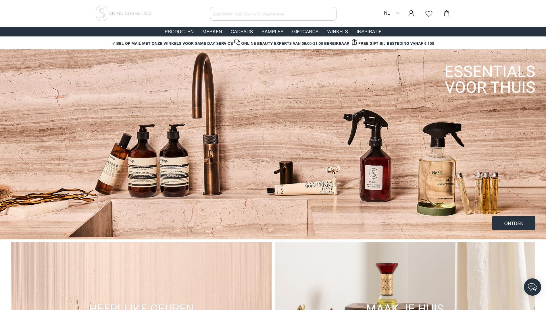 Voorbeeld design Skin Cosmetics