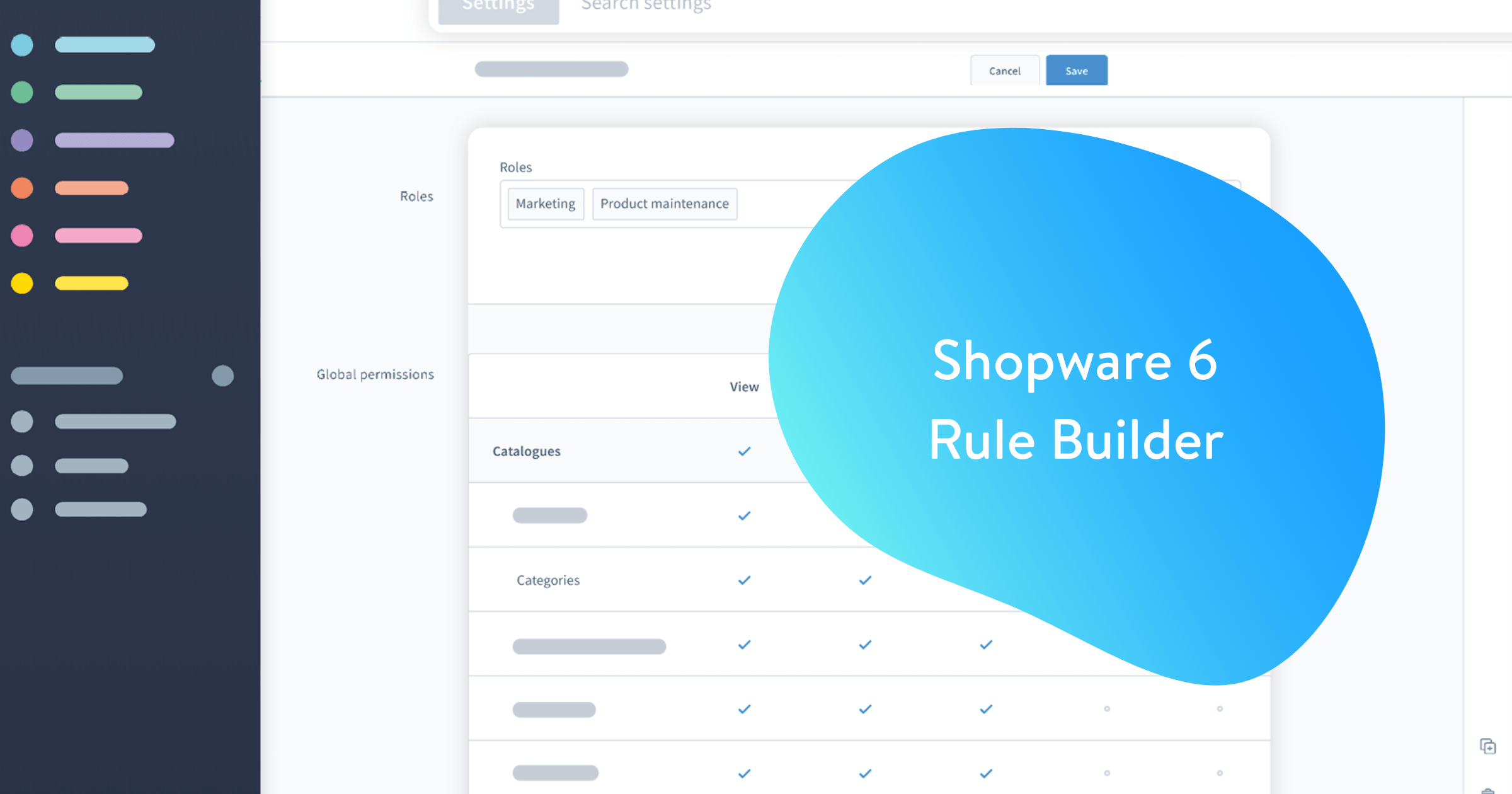 Nieuw de Shopware 6 rule builder