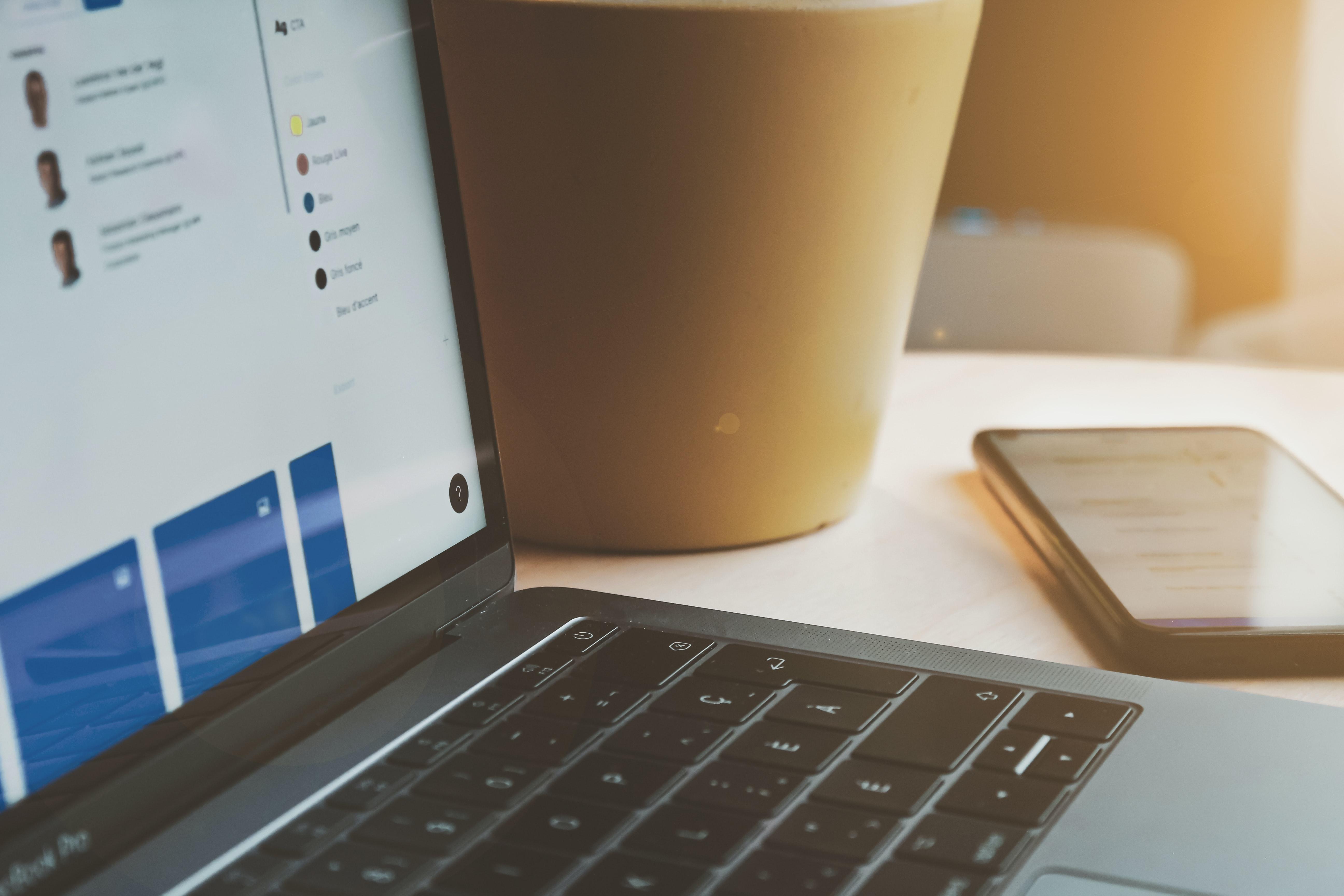No Code website seen on a laptop
