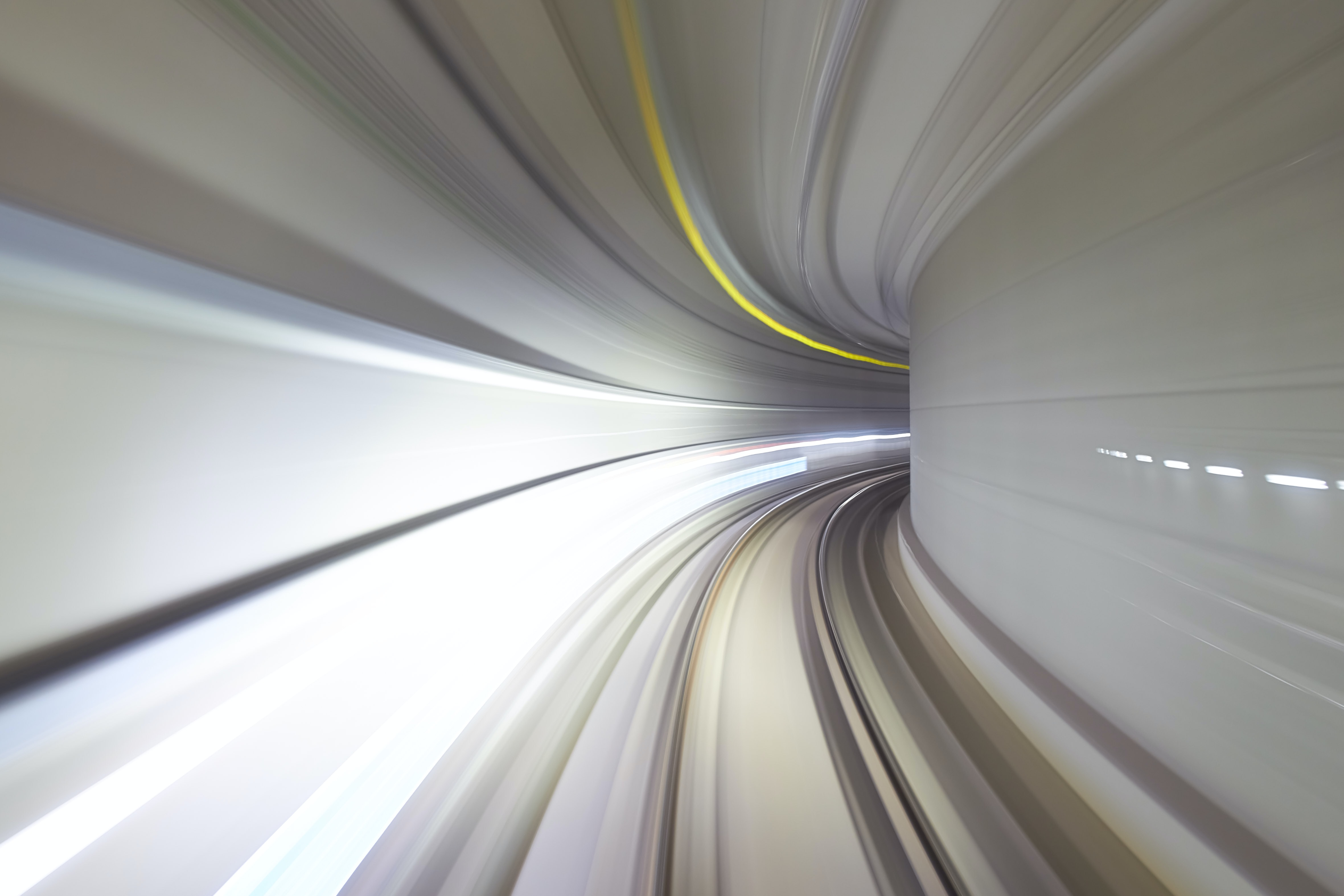 An abstractimage of speed, a POV of going quickly through a tunnel