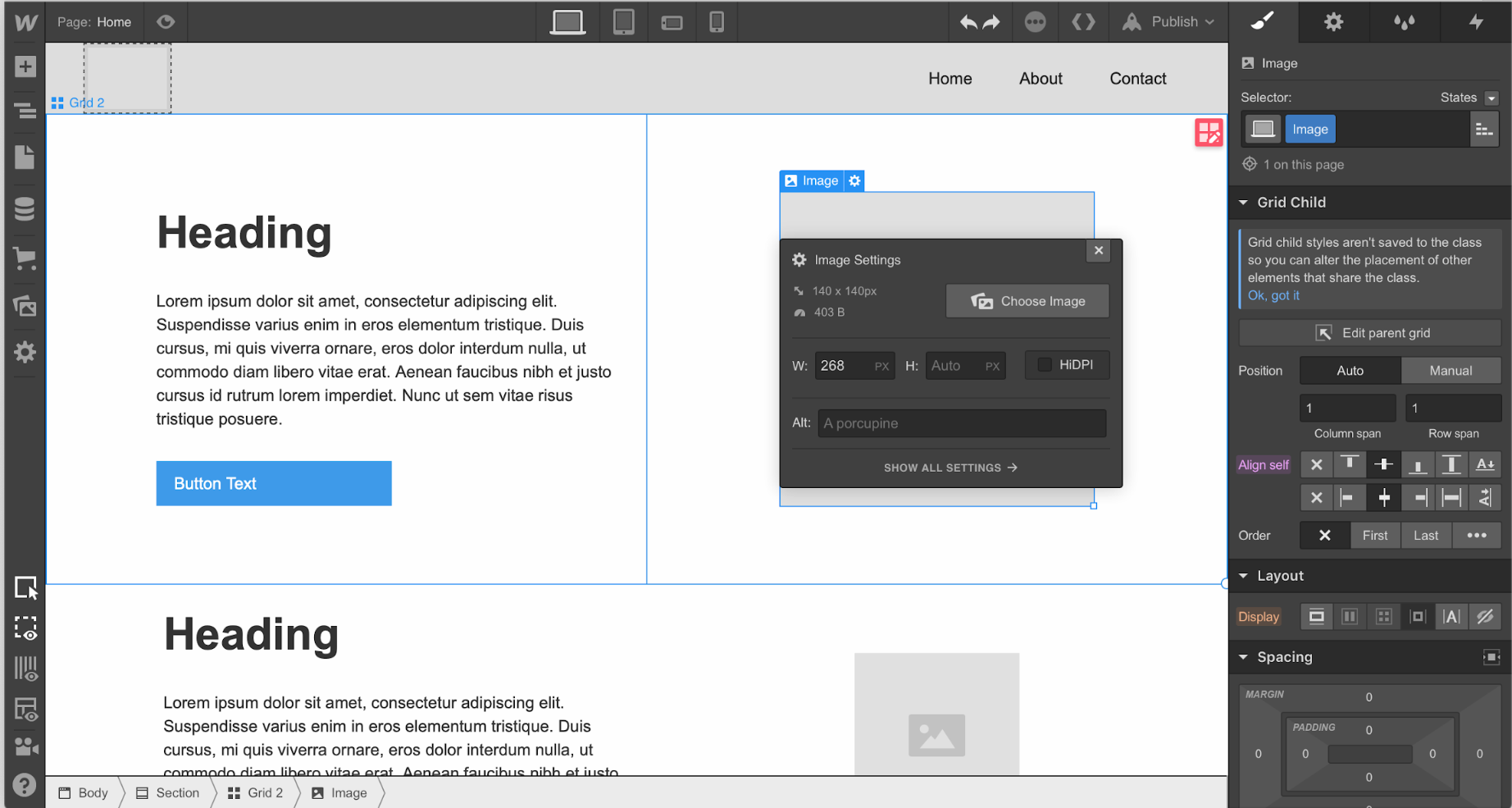 designing a website with Webflow, a No Code web development tool