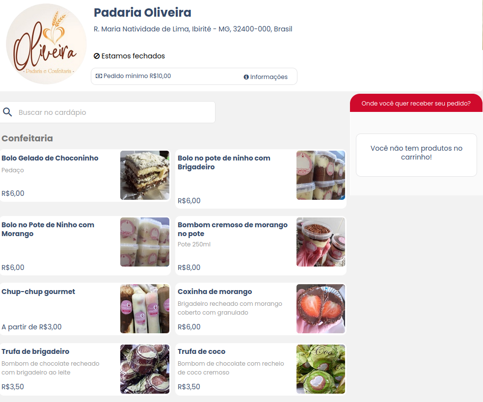 Nóz Delivery, food delivery website built with Bubble