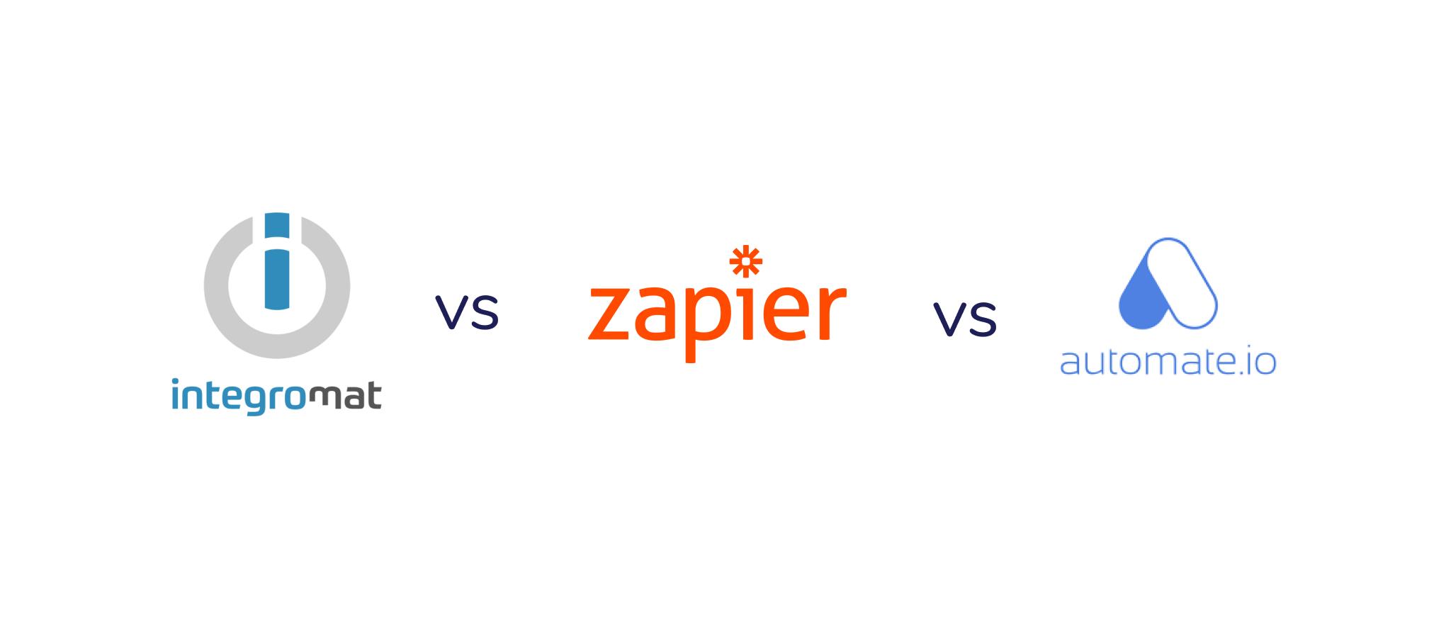 Integromat vs Zapier vs Automate.io